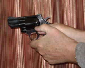Revolver grip with two hands