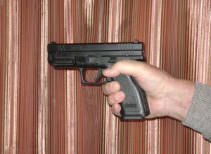 Shooting hand grip for semi-automatic
