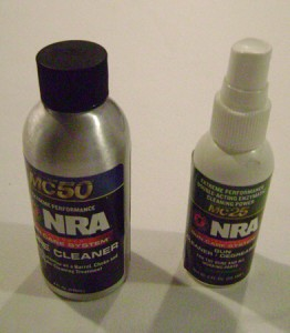Various gun cleaning fluids